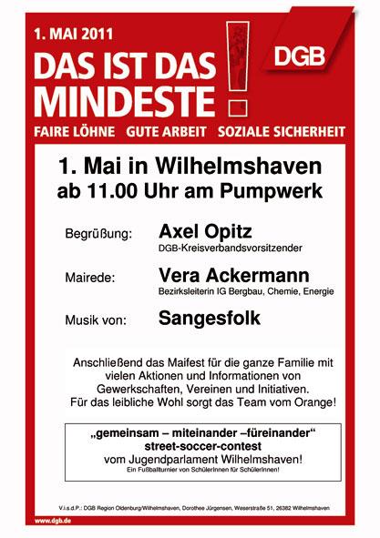 Plakat zum 1. mai 2011