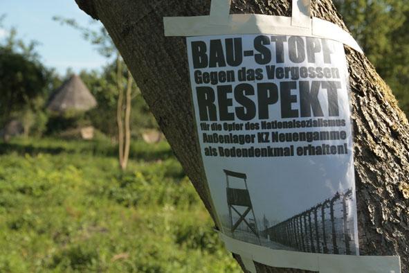 Flugblatt Außenlager Neuengamme als Bodendenkmal erhalten