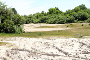 Sand, Büsche, geschützter Trockenrasen, himmlische Ruhe: All das soll unter einem Campingplatz mit 200 Stellplätzen verschwinden. Foto: Imke Zwoch