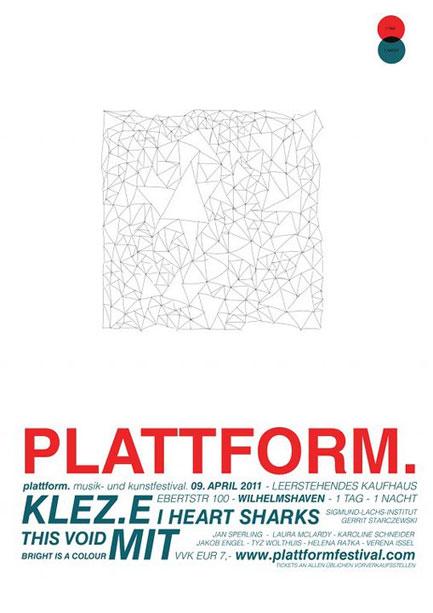 Poster Plattform Festival 2011