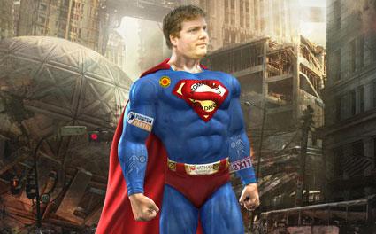 Rainer Büscher als Superman